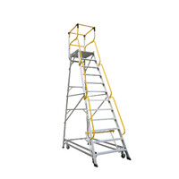 200kg Rated Bailey Ladderweld Order Picking Aluminium Ladder - 3.3m - 12 Step