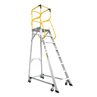 Bailey 150kg Rated Ladder Order Picking Platform Aluminium Industrial 2.2m 8 Step