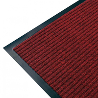Anti Slip Ribbed Entrance Floor Mat - PVC - 900 x 1500mm - Red
