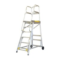 150KG Stockmaster Mobile Work Platform Ladder Tracker - 1145mm