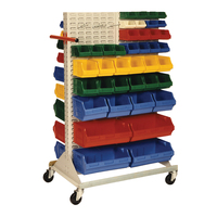 Louvre Panel Trolley - Mobile Bin Rack - 880 x 1530mm * BINS NOT INCLUDED*