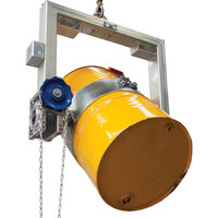 400kg Rated Industrial Drum Rotator - Forklift Attachment - Chain Operated
