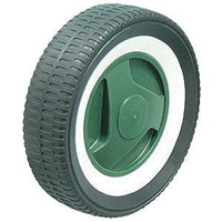 "30KG Lawn Mower Plastic Tyre Plastic Centre - 200 x 46mm - 1/2"" Plain Bore"