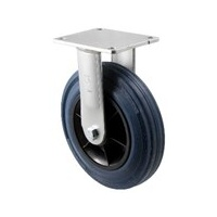 "Castor - ""O"" and ""H"" Series - 250kg - Hi Resilience Wheel - 200mm - Plate Fixed - Plain Bearing - NA"