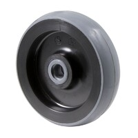 100kg Rated Polyurethane Wheel - 100 x 23mm - Plain Bearing