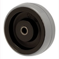 100kg Rated Polyurethane Wheel - 75 x 23mm - Plain Bearing