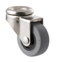 30KG Castor - TPE Wheel - 50 x 20mm - Bolt Hole Swivel