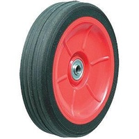 75kg Rated Industrial Black Rubber Wheel - 150 x 36mm - 1/2 Deep Groove Bearing""