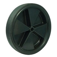 100kg Rated Industrial Black Rubber Wheel - 250 x 45mm - 5/8 Plain Bore""