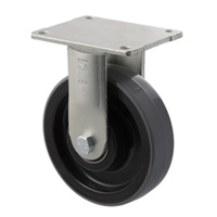 600kg Rated Industrial Castor - Nylon Wheel - 150mm - Plate Fixed - Ball Bearing - NA