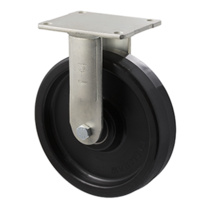 600kg Rated Industrial Castor - Nylon Wheel - 200mm - Plate Fixed - Ball Bearing - ISO