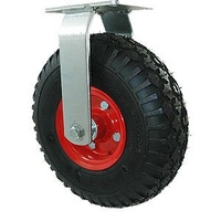 100KG Industrial Polyrethane Tyres - 265mm - Semi Pneumatic Wheel - Plate Fixed - NA