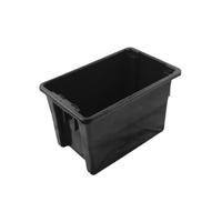 68L Plastic Stack & Nest Bin storage - Non Food Grade - 645 x 413 x 397mm - Black