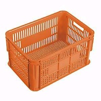 66L Plastic Stacking Crate Lug - 610 x 419 x 312mm - Orange