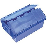 30L Plastic Security Stack & Nest Bin Container - 575 x 380 x 215mm - Blue