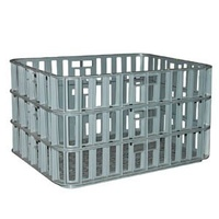 136L Plastic Stacking Crate Modular - 730 x 530 x 408mm - Grey