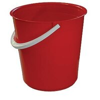 13.6L Nally Plastic Industrial Round Bucket - 300 x 295mm - Red