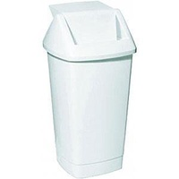 Bin - Waste - Swing Top Tidy - 50 Litre - White