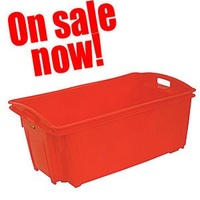 Bin - Stack & Nest - General Purpose -  54 litre - 711 x 438 x 316mm high - Red - IH066-ON SALE