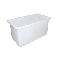 320L Plastic Rectangular Bin Rotomould Tank Container - 915 x 610 x 610mm - Natural