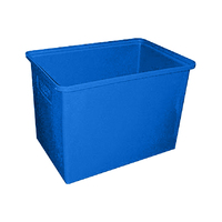 600L Plastic Rectangular Bin Rotomould Container - 1200 x 700 x 750mm - Blue