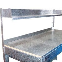 Galvanised Steel Over Bench Shelf Only - 1800mm Length