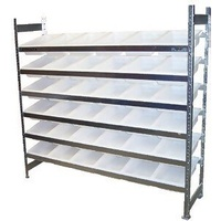 Bin Rack - Action Rack - 2022 x 1800 - #4 Bins x 36 - White