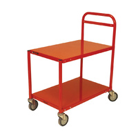 200KG Steel 2 Deck Platform Trolley - 810 x 510mm - Orange