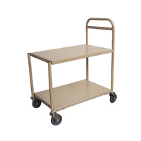 200KG Steel 2 Deck Platform Trolley - 1110 x 510mm - Beige - Australian Made