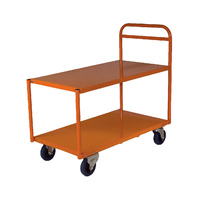 200KG Steel 2 Deck Platform Trolley Medium - 1110 x 510mm-- Orange
