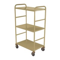 200KG 3 Deck Industrial Steel Trolley - 1110 x 610mm - Beige - Australian Made