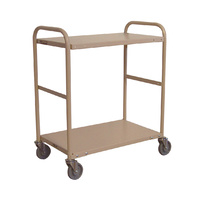 200KG Steel Multipurpose 2 Deck Trolley - 1110 x 610mm  - Beige