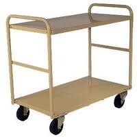 200KG Steel Multipurpose 2 Deck Trolley Medium - 810 x 510mm - Beige