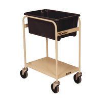 Order Picking Warehouse Trolley Single Tub - Beige (Bin not included) - Australian Made