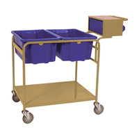 Order Picking Warehouse Twin Bin - Writing Top & Console - Beige (Bins not included) - Australian Made