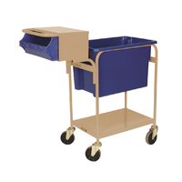 Order Picking Warehouse Trolley Writing Top - Beige (Bins not included) - Australian Made