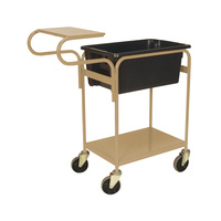 2 Tier Order Picking Trolley - Writing Top - Beige (Bin not included)