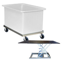 Bin Trolley - 600 Litre - 1200 x 700 x 770h mm - 150mm Wheel - Natural