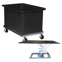 600 Litre Durable Plastic Bin Trolley - 1200 x 700 x 770mm - Black - Australian Made