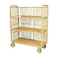 3 Tier Laundry Linen Trolley for Hospitals Hotels - 1110 x 510mm - Beige