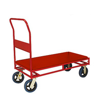 Trolley - Platform - Stock Trolley - 1 Handle - 4 Wheel -  900 x 450 mm - Steel Deck