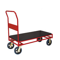 Trolley - Platform - Stock Trolley - 1 Handle - 4 Wheel - 1200 x 450 mm - Poly Deck