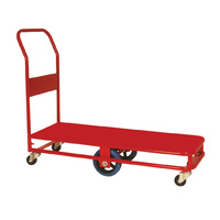 450kg Rated Heavy Duty Steel Platform Trolley - 1 Handle 6 Wheel - 900 x 450mm - Steel Deck - Australian Made