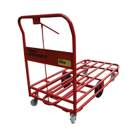 450KG Heavy Duty Steel Platform Trolley - 1 Handle 6 Wheel - 1200 x 600mm - Tube Deck BRAKED - Australian Made