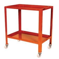 2 Tier Inverted Tier Steel Mobile Workstand Work Station - 810 x 510mm - Mobile