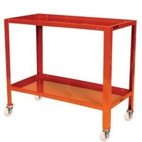2 Tier Inverted Tier Steel Mobile Workstand Work Station - 1110 x 610mm