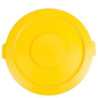 Bin - Round - Brute - 166 litre - Yellow - LID ONLY