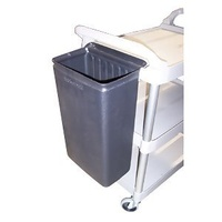 Trolley - Utility - 3 Deck - Rubbermaid OPTION  -  Refuse Bin