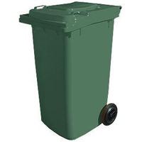 240L HDPE Wheelie Waste Bin - Green - Australian Made