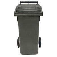 80L HDPE Wheelie Waste Bin - Grey - Australian Made